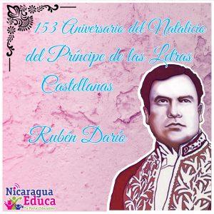Celebración del 153 Aniversario del natalicio de Rubén Darío